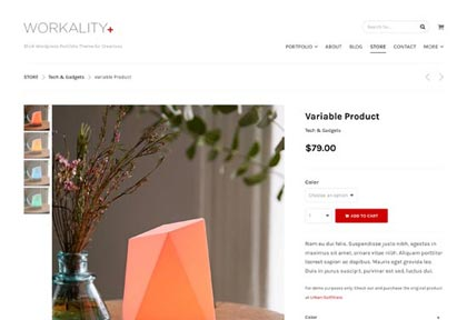 Shop - Variable Product