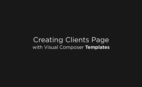 Creating Clients Page