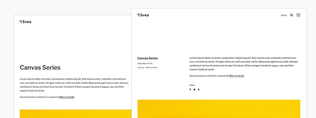 Portfolio & Blog Post Layouts