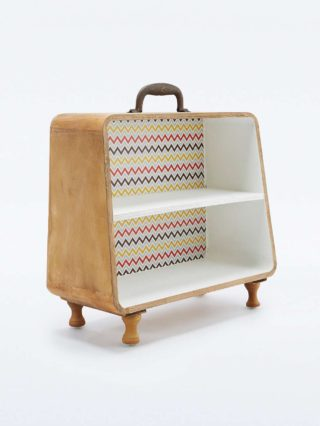 Pattern Suitcase Shelf