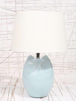 Hector the Owl Blue Lamp EU Plug