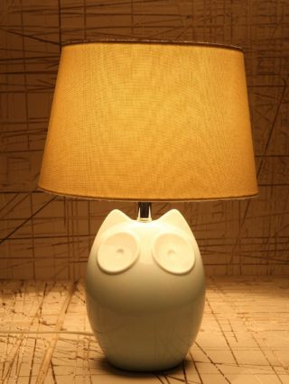 Hector the Owl Blue Lamp EU Plug