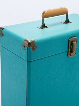 "Crosley 12"" Record Carrier Case in Dark Turquoise"