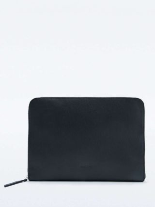 Sandqvist Gerd 13″ Black Leather Laptop Sleeve