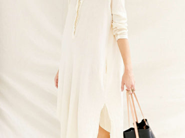 Mandarin Collar Maxi Dress
